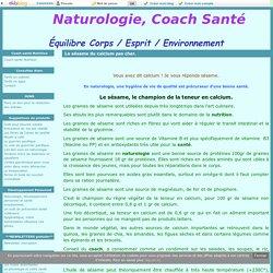 Le sésame du calcium pas cher. - Naturologie, Coach Santé