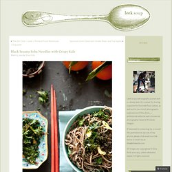 Black Sesame Soba Noodles with Crispy Kale