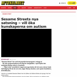 Sesame Street ska lära barn om autism med dockan Julia