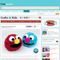 Sesame Street Muppet Pom Pom