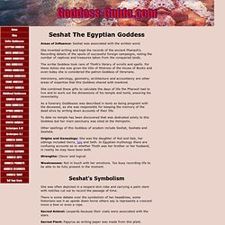 Seshat The Egyptian Goddess