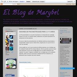 El Blog de Marybel: SESIONES DE PSICOMOTRICIDAD PARA 3, 4 Y 5 AÑOS