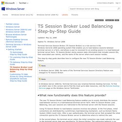 TS Session Broker Load Balancing Step-by-Step Guide