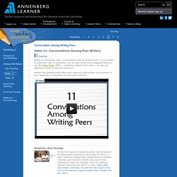 Session 6: Conversations Among Writing Peers: Video 11: Conversations Among Peer Writers