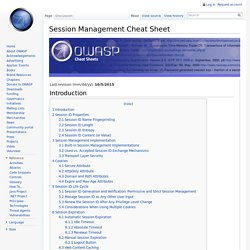 Session Management Cheat Sheet
