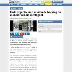 Session de hacking du mobilier urbain intelligent à Paris