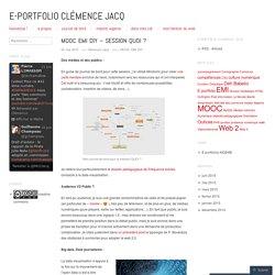 E-Portfolio Clémence Jacq
