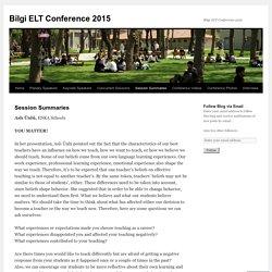 Bilgi ELT Conference 2015