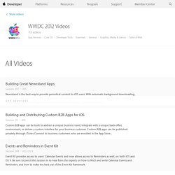 WWDC 2012 Session Videos - Development Videos