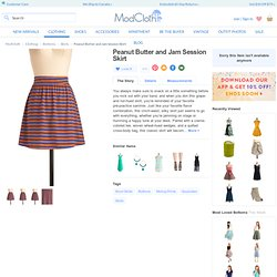 Peanut Butter and Jam Session Skirt | Mod Retro Vintage Skirts