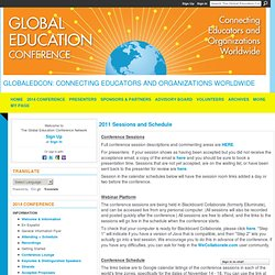 2011 Sessions and Schedule - The Global Education Collaborative