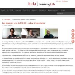 Les sessions Live de MOOC – retour d'expérience – Inria Learning Lab