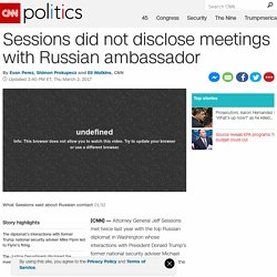 Sessions met with top Russian official twice
