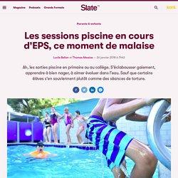 Les sessions piscine en cours d'EPS, ce moment de malaise