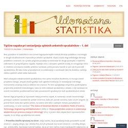Tipične napake pri sestavljanju spletnih anketnih vprašalnikov – 1. del