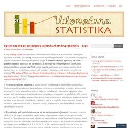 Tipične napake pri sestavljanju spletnih anketnih vprašalnikov – 2. del