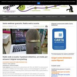 Sesto webinar gratuito: Radio web a scuola