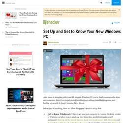 Set Up and Get to Know Your New Windows PC