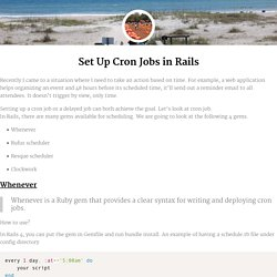 Set Up Cron Jobs in Rails