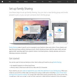 Set up Family Sharing on your iPhone or iPad