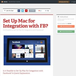 Set Up Mac for Integration with FB?