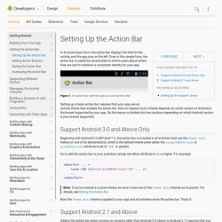 Setting Up the Action Bar