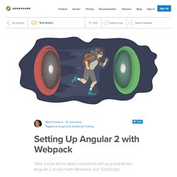 Setting Up Angular 2 with Webpack - Semaphore