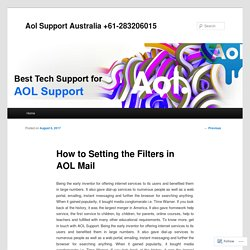 How to Setting the Filters in AOL Mail