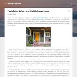 Tips in Setting Up Your Home Available to be purchased