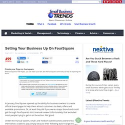 Setting Your Business Up On FourSquare