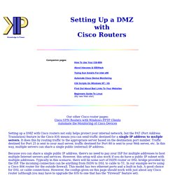 Setting Up A Cisco Router Firewall and DMZ