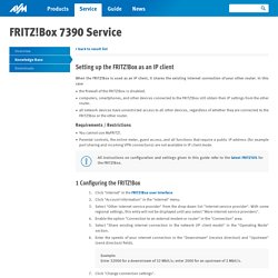 Setting up the FRITZ!Box as an IP client