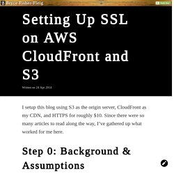 Setting Up SSL on AWS CloudFront and S3