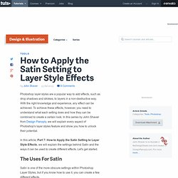 How to Apply the Satin Setting to Layer Style Effects