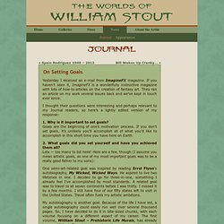 On Setting Goals « William Stout's Journal