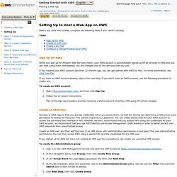 Setting Up to Host a Web App on AWS - Getting Started with AWS