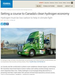 Setting a course to Canada's clean hydrogen economy