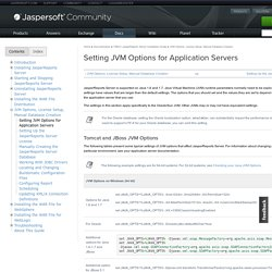 Setting JVM Options for Application Servers
