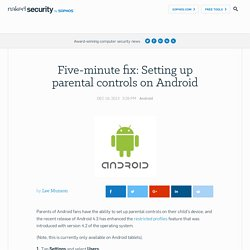 Five-minute fix: Setting up parental controls on Android