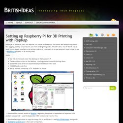 Setting up Raspberry Pi for 3D Printing with RepRap