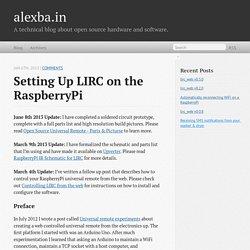 Setting up LIRC on the RaspberryPi - alexba.in