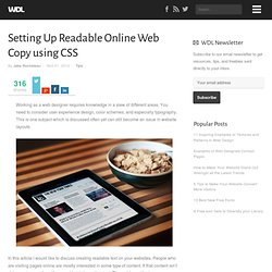 Setting Up Readable Online Web Copy using CSS