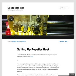 Setting Up Repetier Host