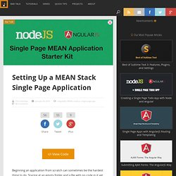 Setting Up a MEAN Stack Single Page Application