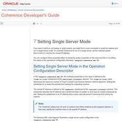 Setting Single Server Mode