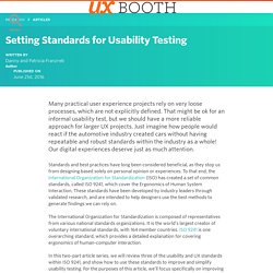 Setting Standards for Usability Testing