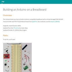Setting up an Arduino on a breadboard