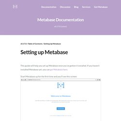 Setting Up Metabase