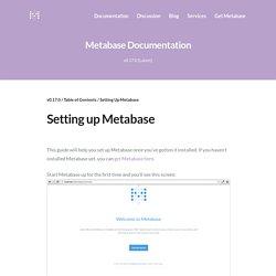 Setting Up Metabase