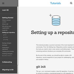Setting up a repository - git-init